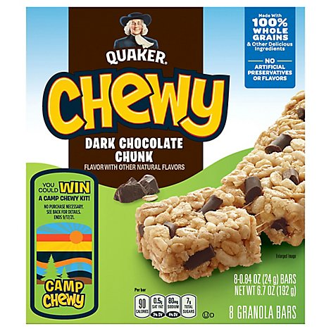 Quaker Chewy Granola Bars Dark Chocolate Chunk - 8-0.84 Oz