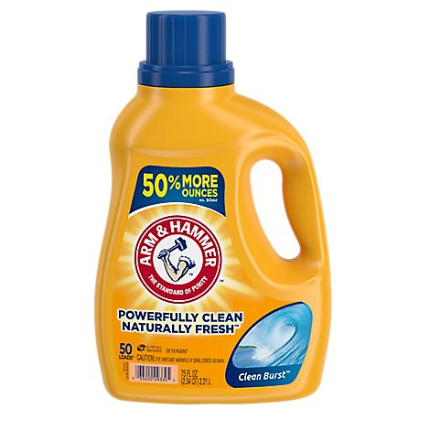 ARM & HAMMER Liquid Detergent Concentrated Clean Burst Jug - 75 Fl. Oz.