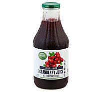 Open Nature 100% Juice Cranberry - 33.8 Fl. Oz.