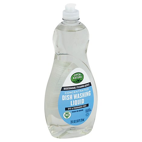 Open Nature Dishwashing Liquid Concentrated Dye & Fragrance Bottle - 25 Fl. Oz.