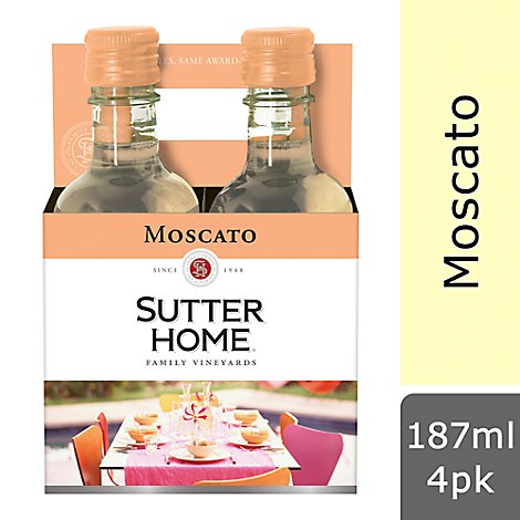 Sutter Home Wine Moscato California - 4-187 Ml