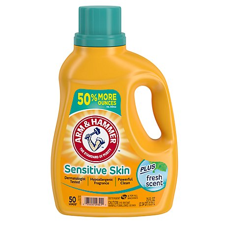 ARM & HAMMER Laundry Detergent Fresh Scent For Sensitive Skin Plus - 75 Fl. Oz.