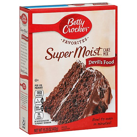 Betty Crocker Cake Mix Super Moist Favorites Devils Food - 15.25 Oz