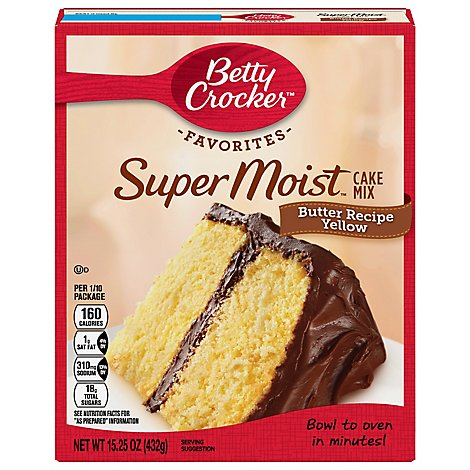 Betty Crocker Cake Mix Super Moist Favorites Butter Recipe Yellow - 15.25 Oz