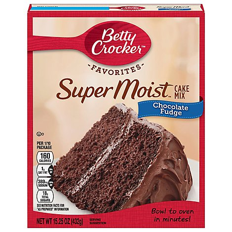 Betty Crocker Cake Mix Super Moist Favorites Chocolate Fudge - 15.25 Oz