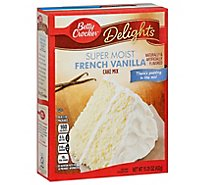 Betty Crocker Cake Mix Super Moist Delights French Vanilla - 15.25 Oz