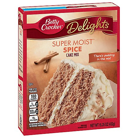 Betty Crocker Cake Mix Super Moist Delights Spice - 15.25 Oz