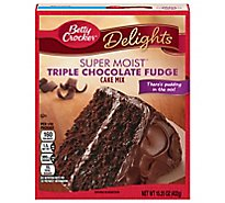 Betty Crocker Cake Mix Super Moist Delights Triple Chocolate Fudge - 15.25 Oz