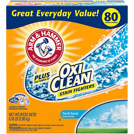 ARM & HAMMER Laundry Detergent Oxi Clean Fresh Box - 6.16 Lb