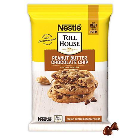 Nestle Toll House Cookie Dough Peanut Butter Chocolate Chip - 16 Oz