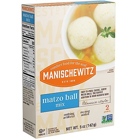 Manischewitz Reduced Sodium Matzo Ball Mix For Passover - 5 Oz