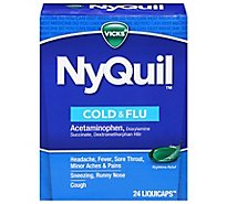 Vicks NyQuil Cold & Flu Relief Nighttime LiquiCaps - 24 Count