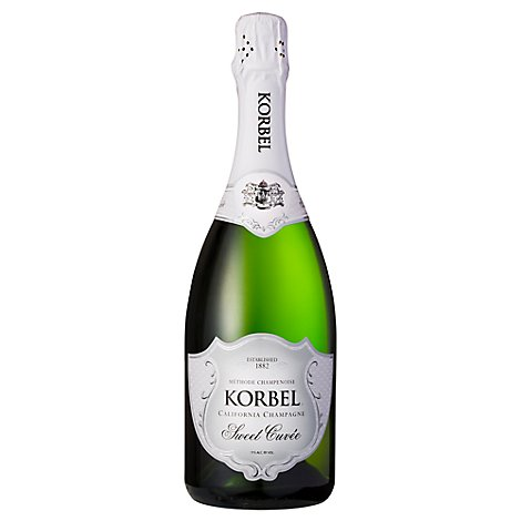 Korbel Champagne California Sweet Cuvee 22 Proof - 750 Ml