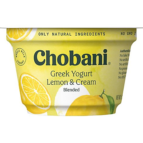 Chobani Yogurt Greek Blended Creamy Lemon & Cream - 5.3 Oz
