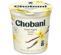 Chobani Yogurt Greek Blended Non-Fat Vanilla - 32 Oz