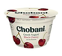 Chobani Yogurt Greek Fruit On The Bottom Non-Fat Black Cherry - 5.3 Oz