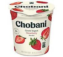 Chobani Yogurt Greek Blended Non-Fat Strawberry - 32 Oz
