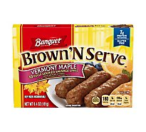 Banquet Brown N Serve Sausage Links Fully Cooked Maple 10 Count - 6.4 Oz