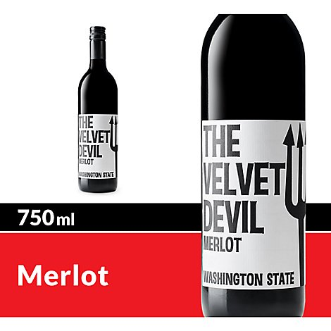 The Velvet Devil Wine Merlot Charles Smith Wines Red Wine - 750 Ml