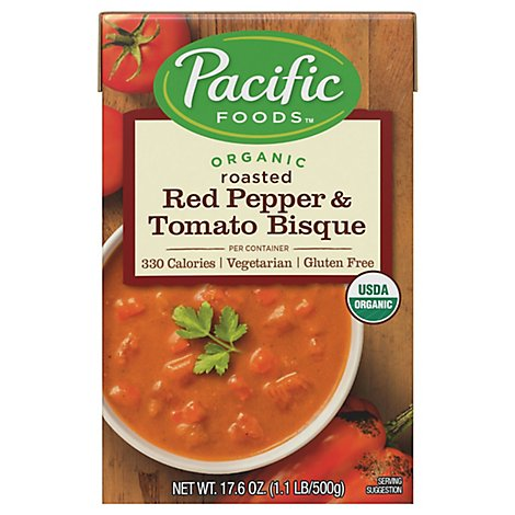 Pacific Organic Bisque Roasted Red Pepper & Tomato - 17.6 Oz
