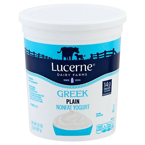 Lucerne Greek Yogurt Nonfat Plain - 32 Oz