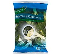 Signature Farms Broccoli & Cauliflower Steam In Bag - 12 Oz