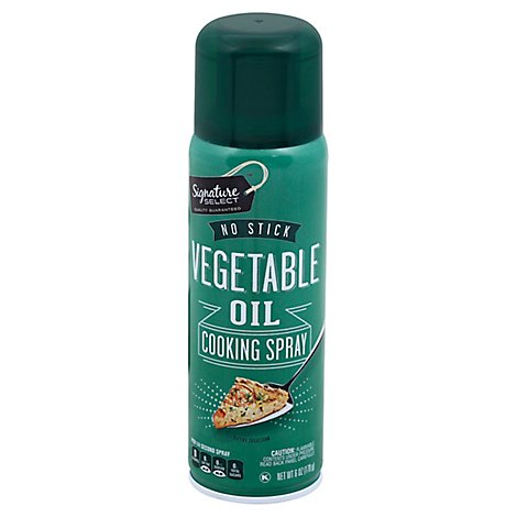 Signature SELECT Cooking Spray No Stick Vegetable Oil Aerosol - 6 Oz