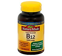 Nature Made Dietary Supplement Tablets Vitamin B-12 Timed Release 1000 mcg - 160 Count