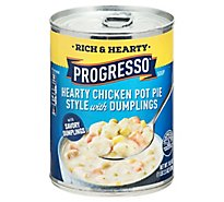 Progresso Rich & Hearty Soup Hearty Chicken Pot Pie Style - 18.5 Oz