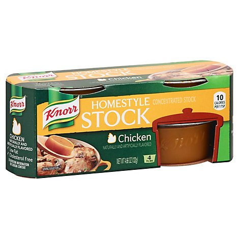 Knorr Stock Concentrate Homestyle Chicken 4 Count - 4.66 Oz