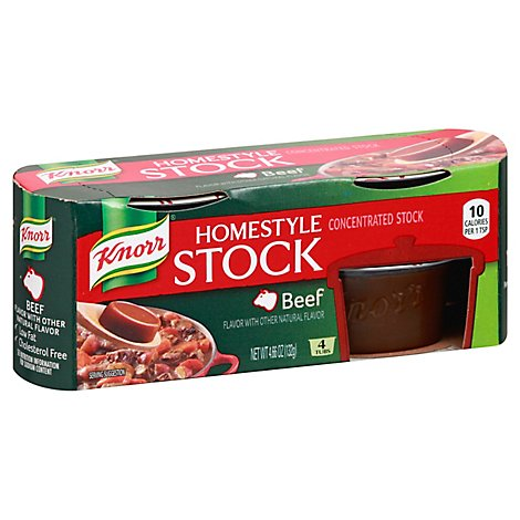 Knorr Stock Concentrate Homestyle Beef 4 Count - 4.66 Oz