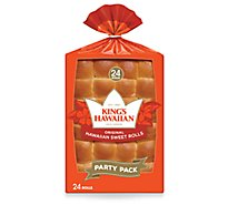Kings Hawaiian Rolls Hawaiian Sweet Original 24 Count - 24 Oz