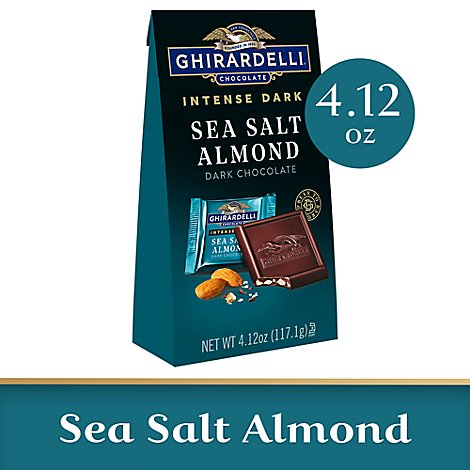 Ghirardelli Intense Dark Chocolate Squares Sea Salt Soiree - 4.12 Oz