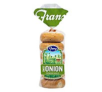 Franz New York Bagels Onion - 18 Oz