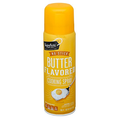 Signature SELECT Cooking Spray No Stick Butter Flavored Aerosol - 6 Oz