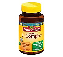 Nature Made Dietary Supplement Tablets Vitamin B-Complex Super + Vitamin C - 140 Count