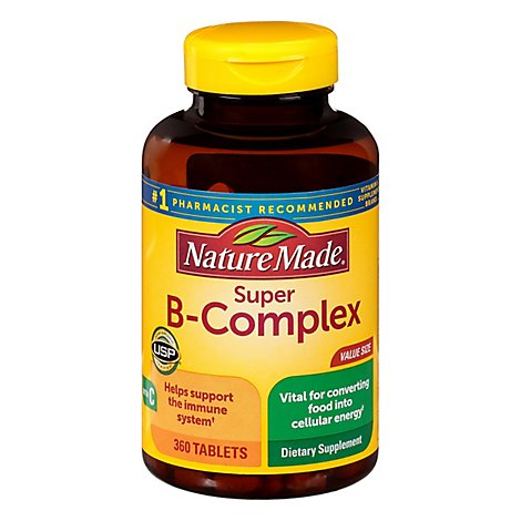 Nature Made Tablets Super B Complex With Vitamin C & Folic Acid Dietary Sup - 360 Count