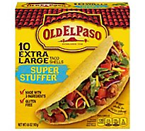 Old El Paso Taco Shells Extra Large Super Stuffer Box 10 Count - 6.6 Oz