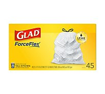 Glad Kitchen Bags Tall Drawstring 13 Gallon - 45 Count