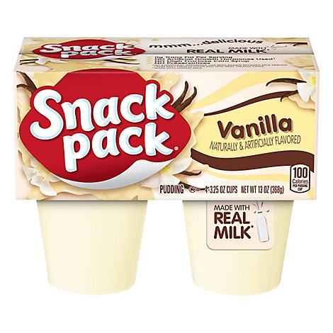 Snack Pack Pudding Vanilla - 4-3.25 Oz