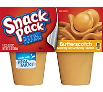 Snack Pack Pudding Butterscotch - 4-3.25 Oz