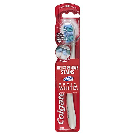 Colgate 360 Degree Optic White Toothbrush Full Head Soft 47 - 1 Count