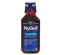Vicks NyQuil Cold & Flu Relief Nighttime Liquid Cherry - 12 Fl. Oz.