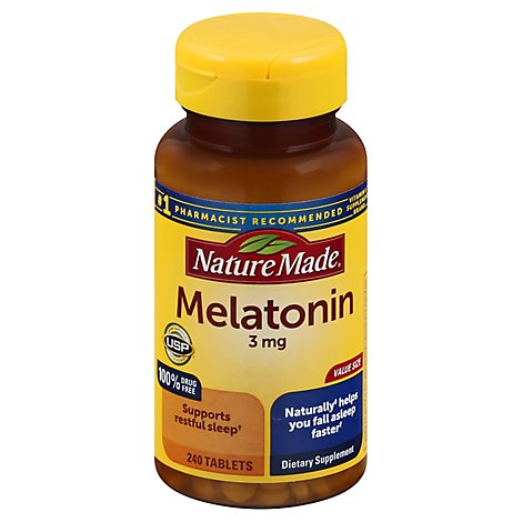 Nature Made Melatonin Value Size Tablets 3 Mg - 240 Count