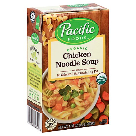 Pacific Organic Soup Chicken Noodle - 17.6 Oz