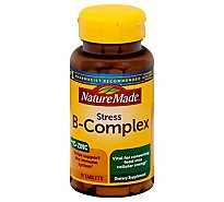 Nature Made Stress B-Complex Tablets With Vitamin C & Zinc - 75 Count