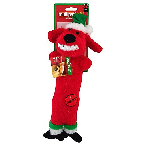 Multipet Dog Toy Loofa Reindeer 12 Inch - Each