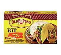 Old El Paso Tortillas Flour Dinner Kit Taco Hard & Soft Box - 11.4 Oz