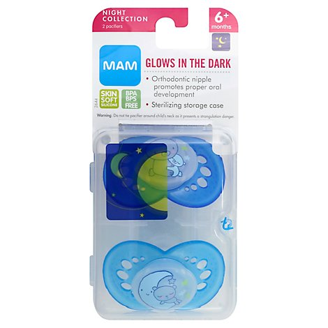 MAM Pacifier Night 6 Months Plus - 2 Count