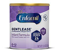 Enfamil Gentlease Infant Formula Milk Based With Iron Powder Can - 12.4 Oz